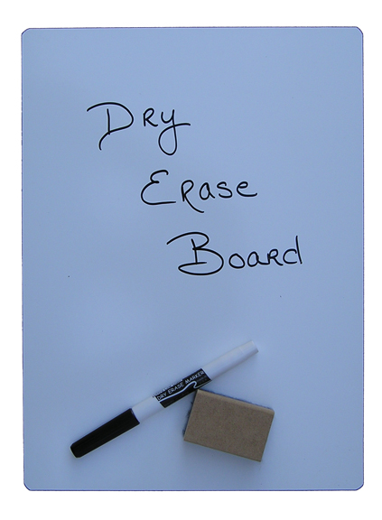 Dry erase poster board